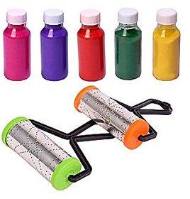 Rangoli roller pack of 2, + FREE 5 Rangoli color bottle used to make border in rangoli