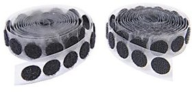 Vardhman strong self adhesive back Hook And Loop Dot Fasteners 100 set , 18 mm ( 3/4 inch )
