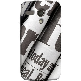 FUSON Designer Back Case Cover for Motorola Moto G :: Motorola Moto G (1st Gen) :: Motorola Moto G Dual (Four Packs Newspapers Ready To Distribution Readers.)