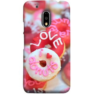 FUSON Designer Back Case Cover for Moto E3 Power :: Motorola Moto E3 Power (I Love Candy Chocolate Marshmallo Colourful Child)