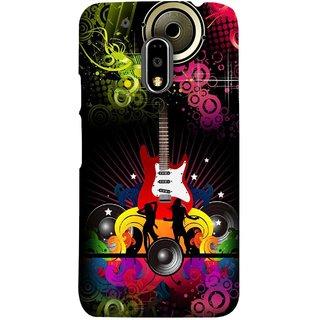FUSON Designer Back Case Cover for Moto E3 Power :: Motorola Moto E3 Power (Abstract Colorful Music Dance Background Design )