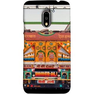 FUSON Designer Back Case Cover for Moto E3 Power :: Motorola Moto E3 Power (Decorated Goods Carrier On Indian Road Stop Dil Tera)
