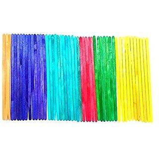 Multicolored Long Ice Cream Sticks Set Of 100 Sku Code- Multilong100