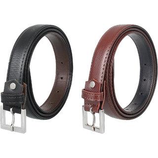 Amicraft Pack of 2 Colour Ladies/Girls/Womens Thin Slim Sleek Style Waist Belt