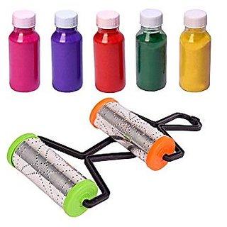 Rangoli roller pack of 2 + FREE 5 Rangoli color bottle used to make border in rangoli