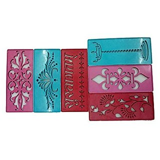 Rangoli Stencil 3 Inch  7 Inch , , Set Of 12