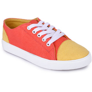 Funku Fashion Orange Casual Shoes