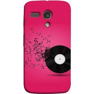 FUSON Designer Back Case Cover for Motorola Moto G :: Motorola Moto G (1st Gen) :: Motorola Moto G Dual (Vinyl Disc With Music Notes Music Lover And Collector )