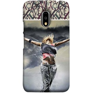 FUSON Designer Back Case Cover for Moto E3 Power :: Motorola Moto E3 Power (Beautiful Female Standing Relaxing Enjoying Moment)