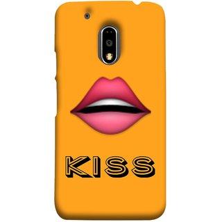 FUSON Designer Back Case Cover for Moto E3 Power :: Motorola Moto E3 Power (Red Lips Pinky Flying Kisses Girl Lovers Couples Hot)