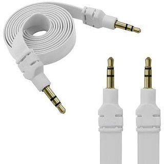 3 METER FLAT Aux Cable - white Color