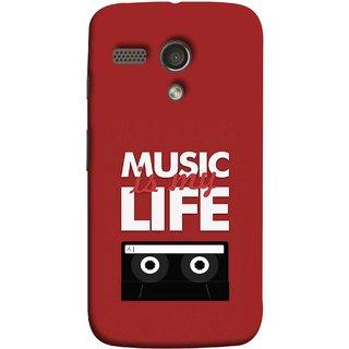 FUSON Designer Back Case Cover for Motorola Moto G :: Motorola Moto G (1st Gen) :: Motorola Moto G Dual (Black And White Songs Poems Musical Events Listen)