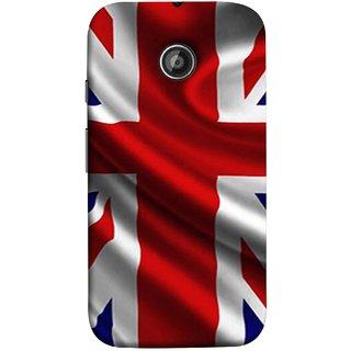 FUSON Designer Back Case Cover for Motorola Moto E2 :: Motorola Moto E Dual SIM (2nd Gen) :: Motorola Moto E 2nd Gen 3G XT1506 :: Motorola Moto E 2nd Gen 4G XT1521 (United Kingdom England Flag Embroidered Red Blue )