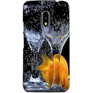 FUSON Designer Back Case Cover for Moto E3 Power :: Motorola Moto E3 Power (3D Water Splash Illustration Fuzzy Bubbles Unique)