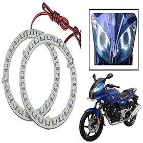 STAR SHINE  Angel Eyes Led Ring Light (White Set Of 2) For Bajaj Discover 125 T