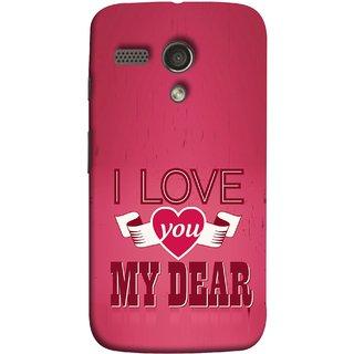 FUSON Designer Back Case Cover for Motorola Moto G :: Motorola Moto G (1st Gen) :: Motorola Moto G Dual (Pyar Hai Tumse Heart Pink Red True )