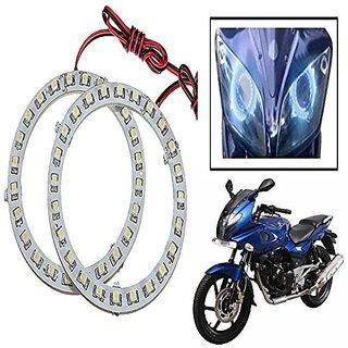 STAR SHINE  Angel Eyes Led Ring Light (Blue set of 2) For Bajaj Discover 125 St