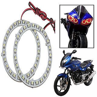 STAR SHINE  Angel Eyes Led Ring Light (Red Set of 2) For Bajaj PULSAR 200CC Double Seater