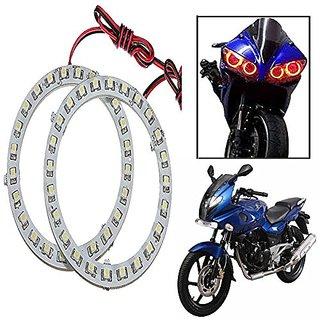 STAR SHINE  Angel Eyes Led Ring Light (Red Set of 2) For Honda CB Twister Disc