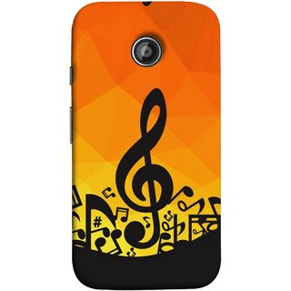 FUSON Designer Back Case Cover for Motorola Moto E2 :: Motorola Moto E Dual SIM (2nd Gen) :: Motorola Moto E 2nd Gen 3G XT1506 :: Motorola Moto E 2nd Gen 4G XT1521 (Disco Inferno Abstract Background With Musical Notes)