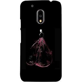FUSON Designer Back Case Cover for Moto E3 Power :: Motorola Moto E3 Power (Cloth Design Dark Pink Baby Maroon Paper Sheet )