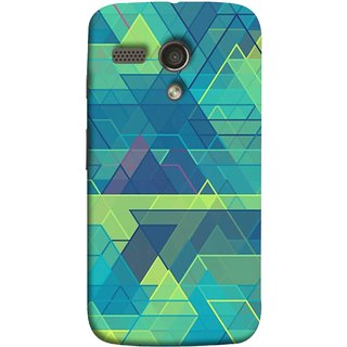 FUSON Designer Back Case Cover for Motorola Moto G :: Motorola Moto G (1st Gen) :: Motorola Moto G Dual (Hexagonal Shape Abstract Pattern Geometric Shapes )