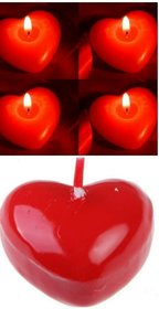 Romantic Red Heart Shaped Candle (Set of 6)