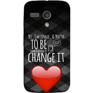 FUSON Designer Back Case Cover for Motorola Moto G :: Motorola Moto G (1st Gen) :: Motorola Moto G Dual (Damn Beautiful To Change It Hearts Love Pure )