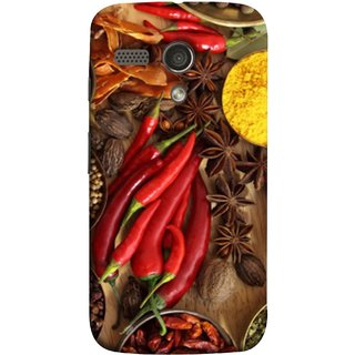 FUSON Designer Back Case Cover for Motorola Moto G :: Motorola Moto G (1st Gen) :: Motorola Moto G Dual (Set Of Indian Spices On Wooden Table Powder Spices)