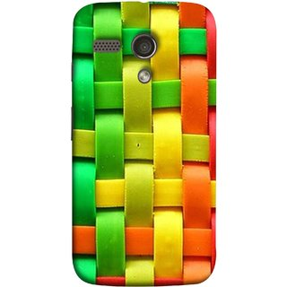 FUSON Designer Back Case Cover for Motorola Moto G :: Motorola Moto G (1st Gen) :: Motorola Moto G Dual (Bright And Beautiful Colour Strips And Band Wave )