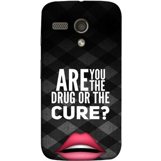 FUSON Designer Back Case Cover for Motorola Moto G :: Motorola Moto G (1st Gen) :: Motorola Moto G Dual (Lips Kisses Inspiration Motivational Quotes Words Sayings )