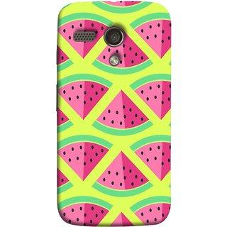 FUSON Designer Back Case Cover for Motorola Moto G :: Motorola Moto G (1st Gen) :: Motorola Moto G Dual (Watermelon Slice Pattern Of Ripe Handdrawing )