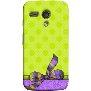 FUSON Designer Back Case Cover for Motorola Moto G :: Motorola Moto G (1st Gen) :: Motorola Moto G Dual (Pista Green Colour Gift Wrap Packing Wallpaper)