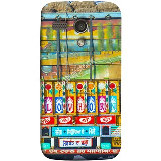 FUSON Designer Back Case Cover for Motorola Moto G :: Motorola Moto G (1st Gen) :: Motorola Moto G Dual (Decorated Goods Carrier On Indian Road Stop Dil Tera)