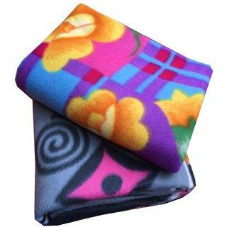 Krishan Enterprises Floral Single Bed (1 Blanket Only ) Multicolor  (90x60 ) inches