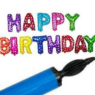 Casual Manual Dual Double Pretty  Hand Balloon Air Pump Birthday Party Brilliant
