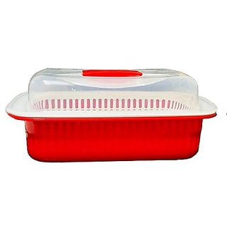 Kuber Industries™ Plastic Storage Basket Boxes Organizer Container Bin For Storing Fruits Vegetables & Multipurpose Use With Lid (Basket05)