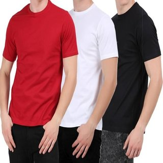 GLADIATOR PRODUCTS PLAIN COTTON T-SHIRT COMBO OF 3