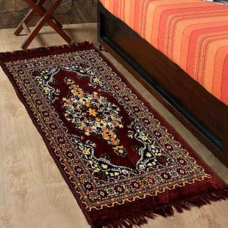 Azaani Brown Abstract Jute Multipurpose Floor Runner - 122 CM x 76 CM