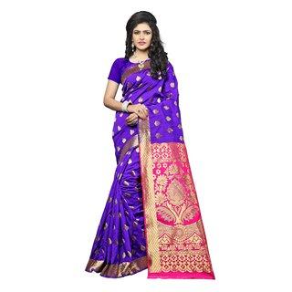 Indian Fashionista Blue Paithani Kanchipuram silk Saree With Blouse