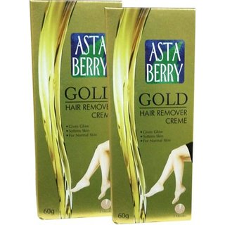 Astaberry gold rair remover creme 60g(pack of 2)