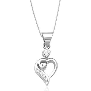 Taraash Sterling Silver Chain Heart Pendant With Chain For Girls COMBO PDCH 69