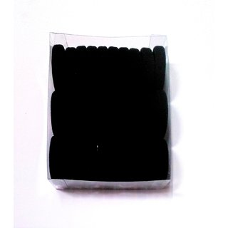 Black Hair Rubber Bands Long Lasting Hair Rubber Band (30 pics)