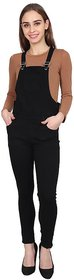 Sumitra Collection Women's Black Solid Dungarees