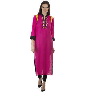 b7ac916f177 Buy Kurti s Womens Pink Embroidered Rayon Kurtis Online - Get 53% Off