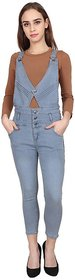 Sumitra Collection Women's Grey Solid Dungarees