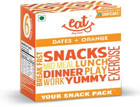 EAT Anytime Energy Bars-Dates  Orange 240 g (Pack of 6)