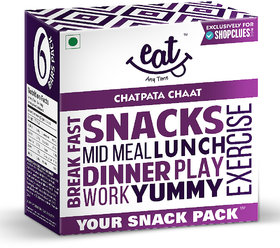 EAT Anytime Snack Bars-Chatpata Chaat, 228 g (Pack of 6)