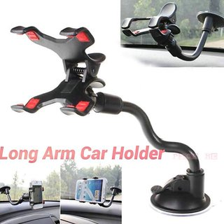 KSJ Soft Tube Mobile Holder with Car Mount - Multi Color