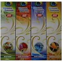 Krishna Darshan Agarbatti. Scented Incense Sticks. 50 Gms Packing. Set Of 4 Box.